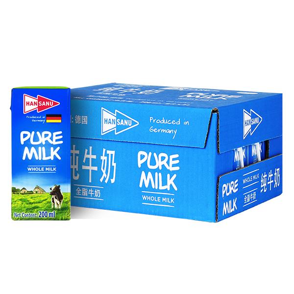 德悠全脂牛奶200ml*24